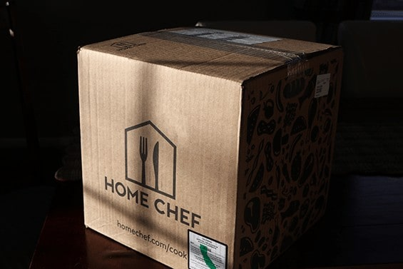 Box sent by Home Cheff