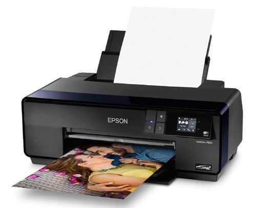 A printer sitting on a table