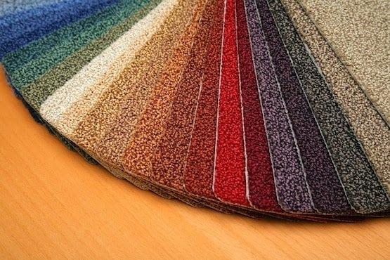 Carpet Samples Arranged by Color