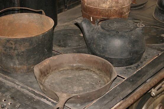 A pot on the stove