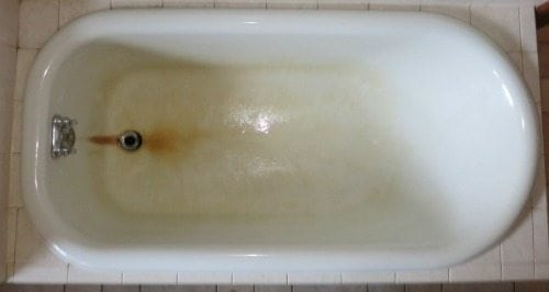 Help! Rust Stains on My Fiberglass Bathtub