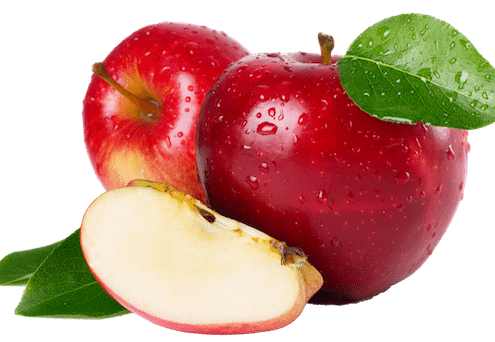 Three shiny red apples a day