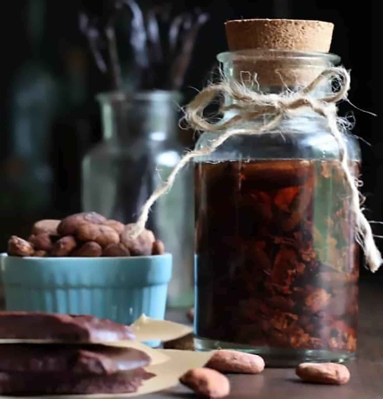 homemade pure chocolate extract
