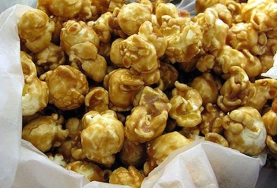 A pile of popcornrn