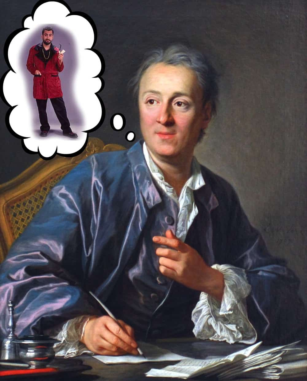 Diderot and his red robe