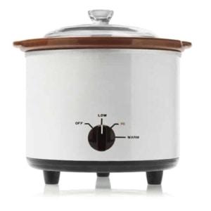 White vintage electric slow cooker aka Crock Pot