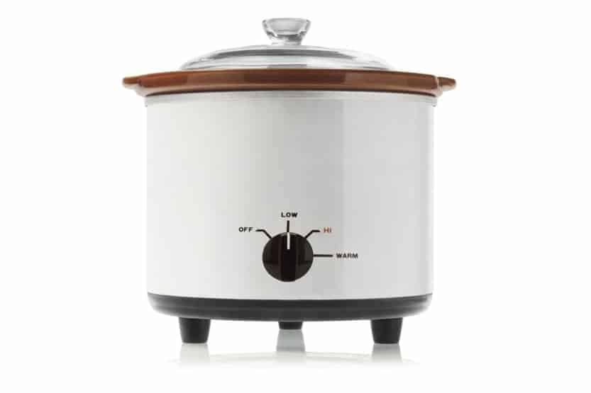 White vintage electric slow cooker aka Crock Pot