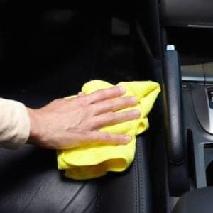 cleaning the inside of a car