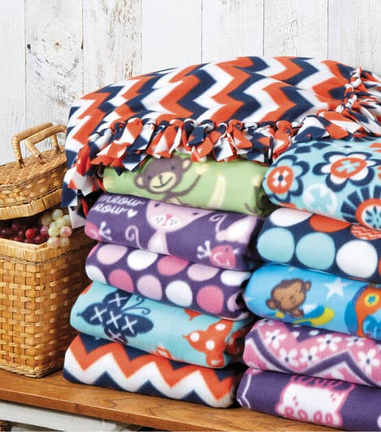 Joann.com no sew fleece blanket