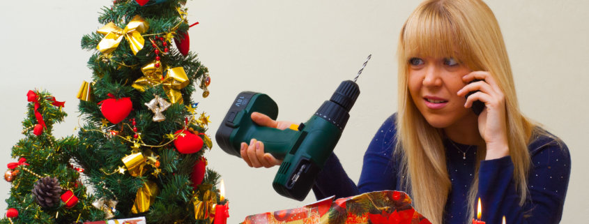 Girl disappointed over a bad Christmas gift