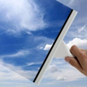 squeegee-windw-cleaning-blue-sky