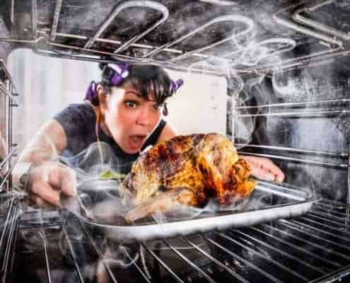 Thanksgiving chaos with a side of burnt turkey