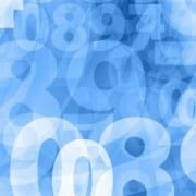 light blue random numbers background texture
