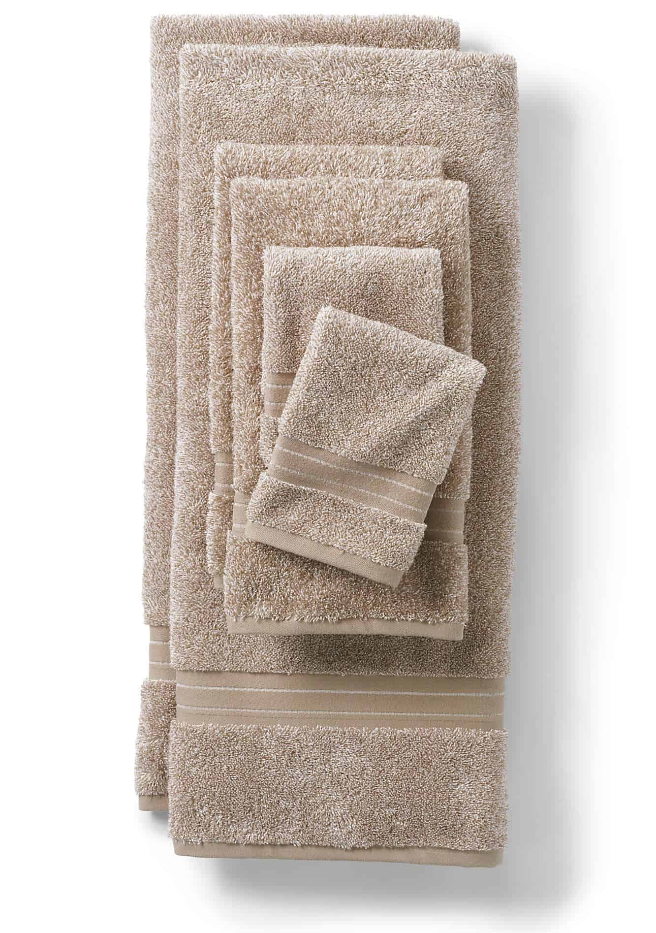 taupe bathtowel set from Lands End