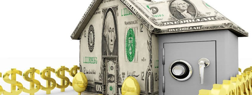 Concept of a home that is mortgaged to the hilt