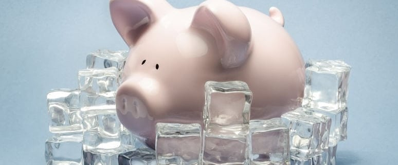 piggy-bank-surrounded-by-ice-cubes