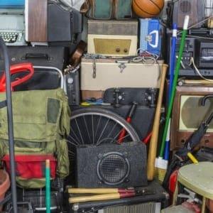 Basement, garage, clutter, rummage, junk pile, storage area, mess