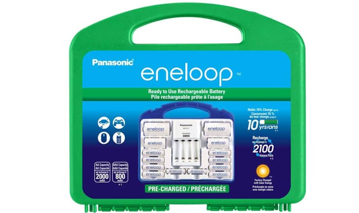 Panasonic eneloop rechargeable battery pack and system