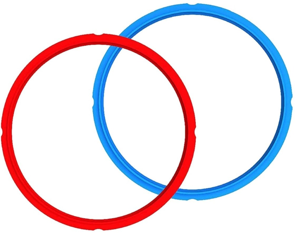 two extra Instant pot silicone sealing rings red blue