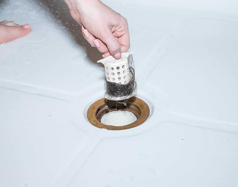ShowerShroom protects shower drain