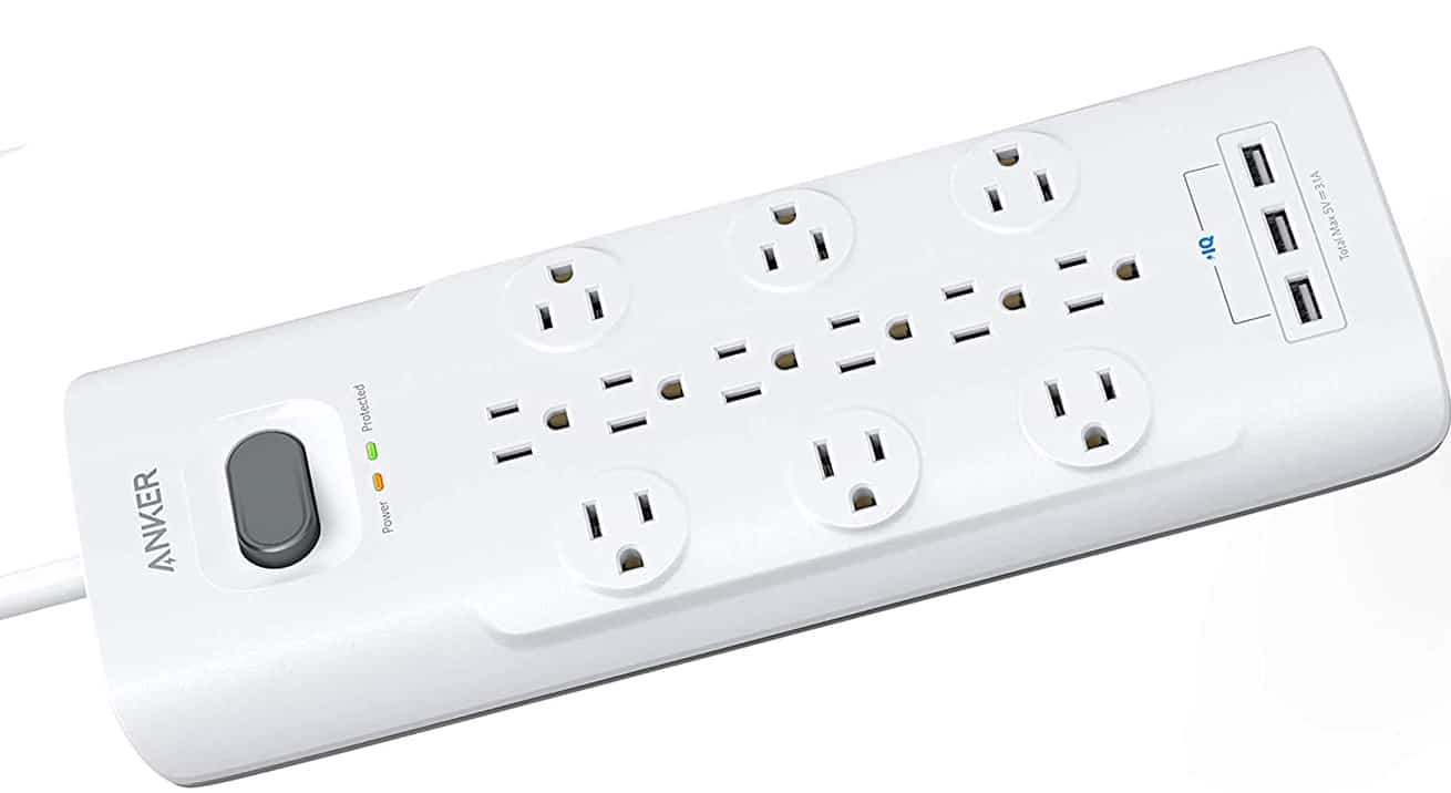 Anker power strip surge protector with space 15 connections
