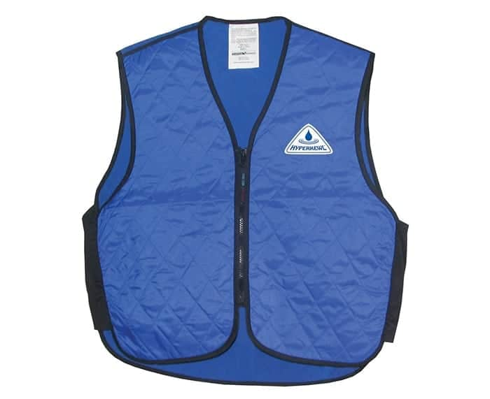 A vest you wear that has super cooling ability.