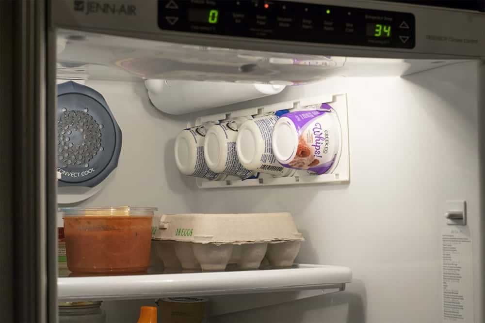 yogurt organizer for refrigerator