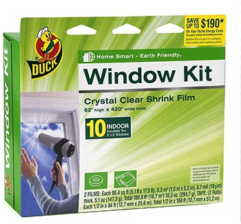 Duck Brand Window Kit seals 10 indoor windows