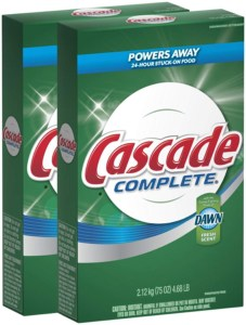 Cascade complete powder automatic dishwasher detergent