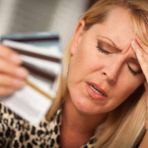 Woman-with-credit-card-woes.
