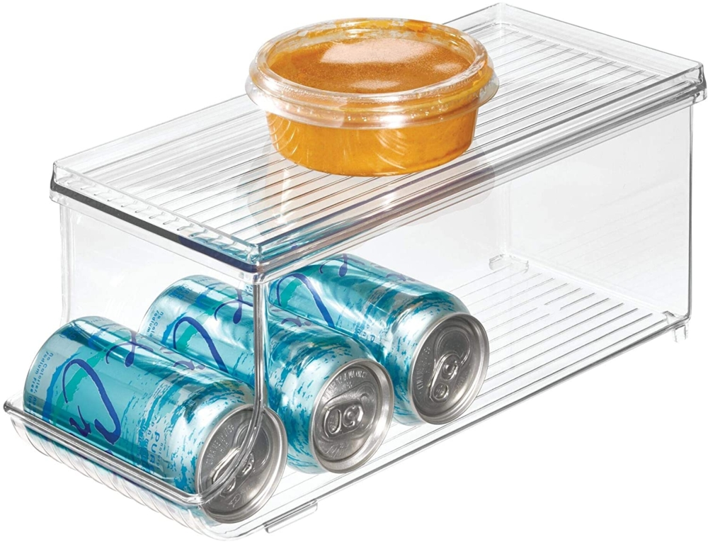 organized refrigerator beverage can holder