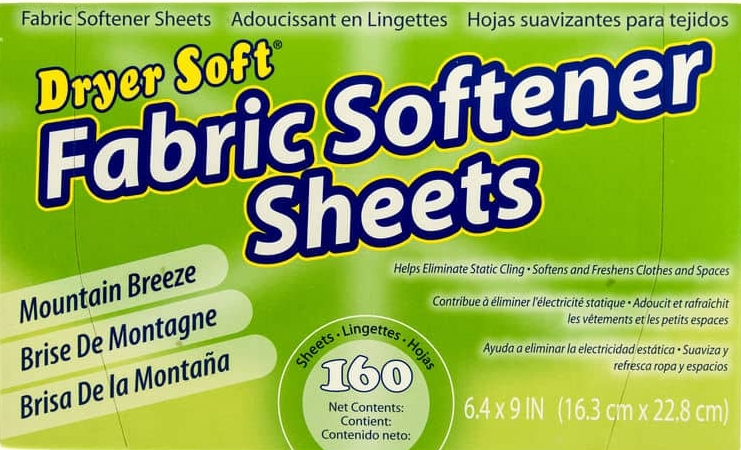 Box of dryer sheets