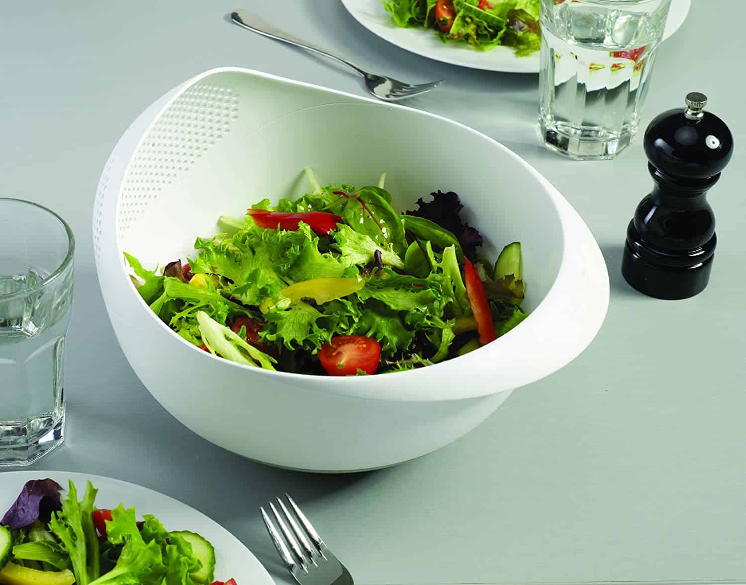 serving bowl and colander combo