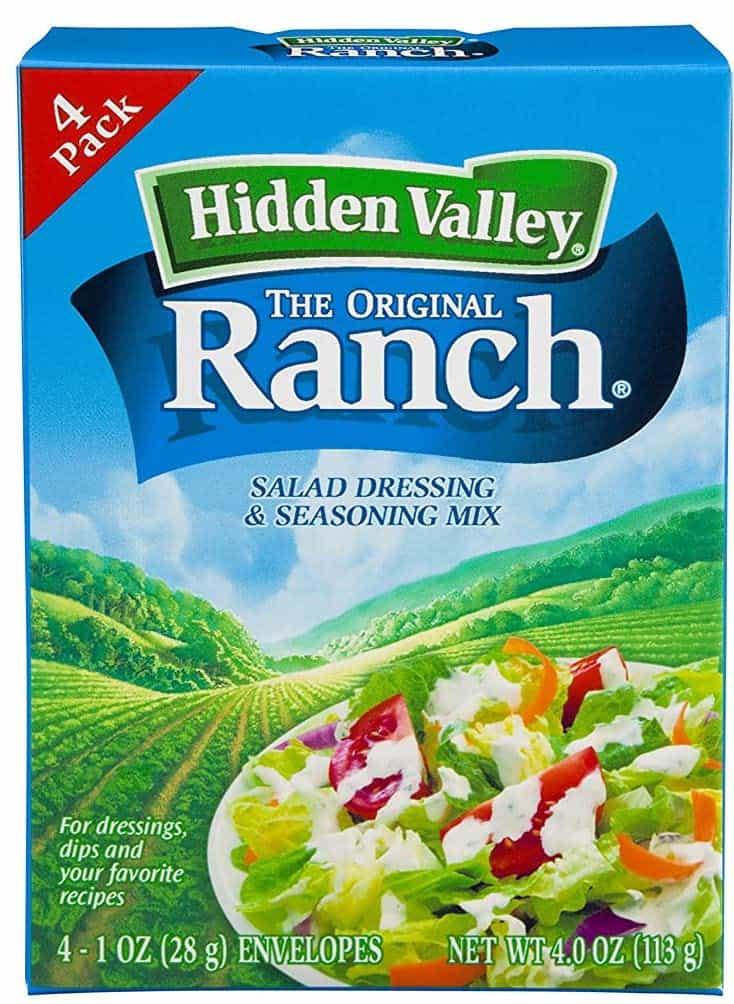 Ranch dressing seasoning packet