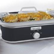 Slow cooker with chicken casserol