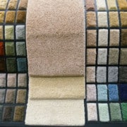 Carpet Samples Displayed Beautifully in a Carpet Store to Help Customers Know How to Buy Carpet