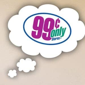 99 cent only store sign