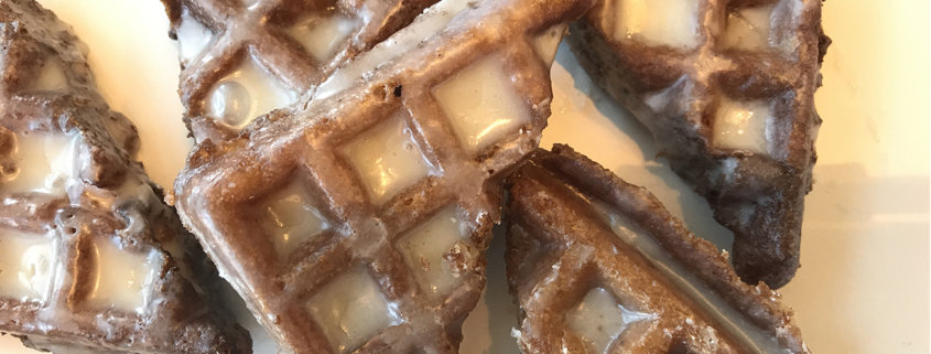 Apple Fritter Waffle Donuts