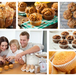 muffin breakfast collage family homemade