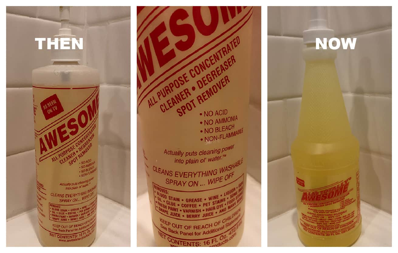 awesome all purpose cleaner then and now