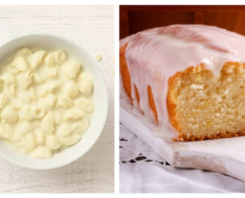 mac n cheese from Panera and Lemon Loaf from Starbucks
