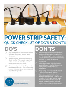 Power Strip Safety: Quick Checklist of Do's & Don'ts
