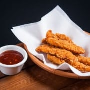 Homemade Chicken Fingers in a Basket Better than Fast-Food Drive-Thru
