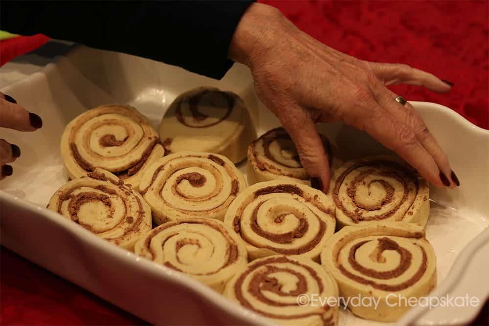 Un-cooked cinnamon rolls