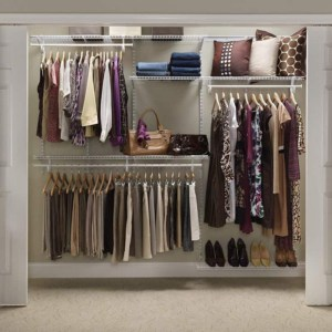 Organized closet with ClosetMaid Kit