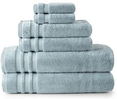 A close up of a towel