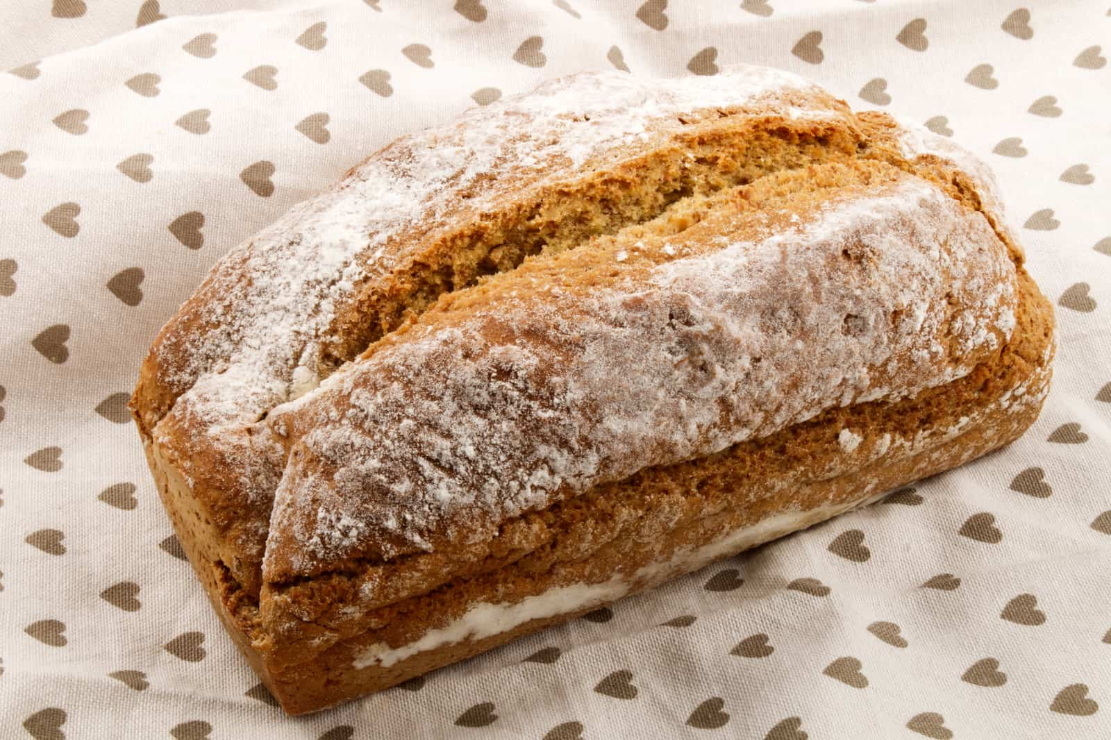 A close up of a piece of bread