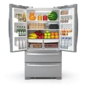 open organized refrigerator