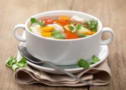 bowl of homemade soup