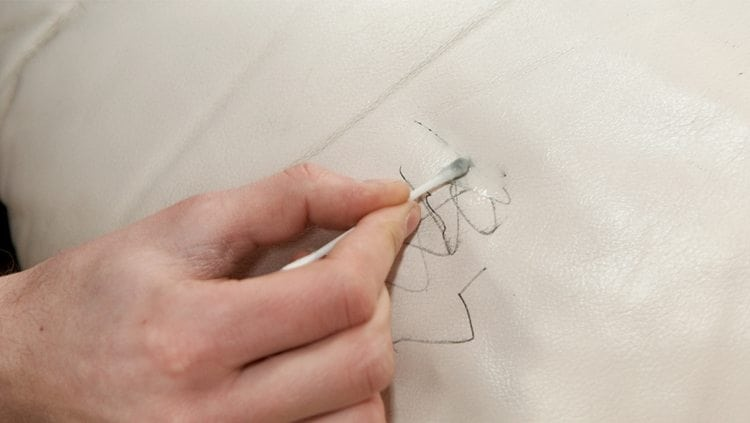 Ink stains on leather and how to remove them